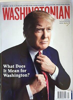 PRESIDENT DONALD TRUMP - Washingtonian Magazine January 2017 Inauguration Issue