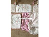 Girls crib bedding set