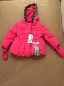 M & S peppa pig coat.