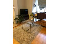 Gold and glass coffee table modern boho
