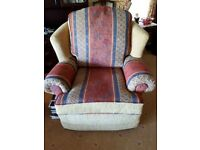 3 piece sofa/suite as new ! gold /teracotta