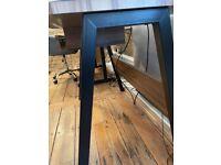Work desk with keyboard drawer