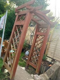 good quality solid garden climber arch pergola harbour