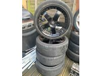 corsa 18 inch alloys x4 with tyres!