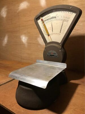 Antique Vintage Pitney Bowes Mailroom Postal Weight Scale Model S-120 Works Nice