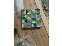 Morrocan Tiles - from a factory. I have 2 x 2 mt (need to double check that)