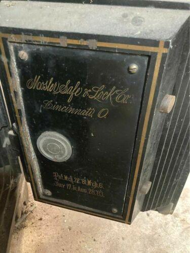 RARE Antique Safe Cast Iron Bank Moosler Lock & Safe Co. Fire Proof 1881-1883