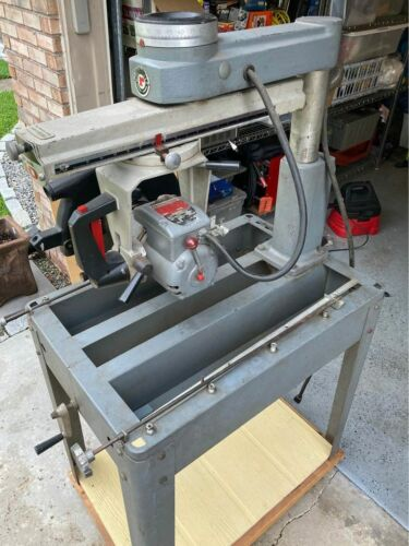 """Vintage Heavy Delta Rockwell 10"""" Radial Arm Saw 1.5HP 115/230V 3450 RPM"""