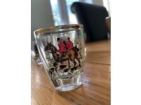 Vintage Set Of 6 Shot/sherry Glasses With Hunting Scenes