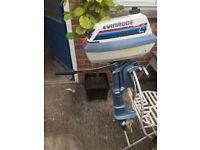 Evinrude 4hp/ 4 Horse Power outboard Engine shortshaft