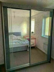 💥💯HUGE 50% OFF 2 AND 3 DOORS SLIDING WARDROBES WITH FULL MIRRORS, SHELVES, RAILS