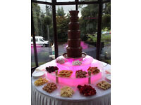 Sephra commercial 5-tier chocolate fountain and illuminated display stand