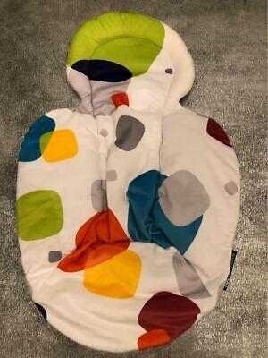 4MOMS Mamaroo Newborn Plush Insert Reversible Grey White EUC!