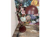 IKEA burgundy desk lamp