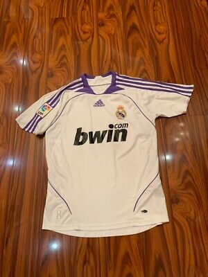 Real Madrid Home football shirt 2007-2008 jersey soccer  image
