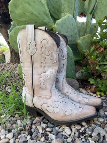 Rockin country collection cowgirl western boots size 8.5 M RC5308 nubuck leather