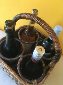 Woven seagrass wine carrier/ display piece