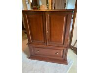 TV cabinet stand with doors wooden