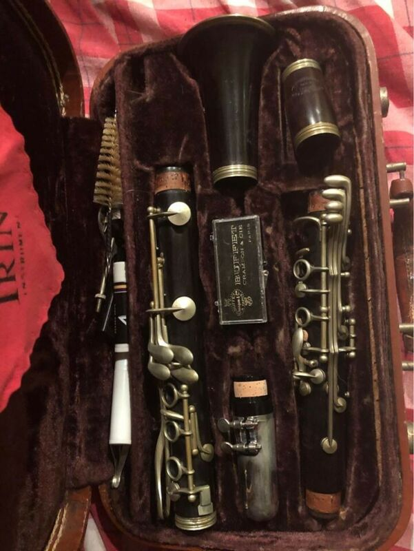 Vintage Evette Buffet Crampon Clarinet, wood, made in France