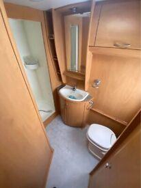 Lunar Delta 640 EW 4 Berth 2004 fixed bed twin axle caravan