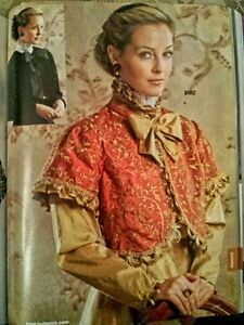 NEW-OUT-OF-PRINT-HISTORICAL-VICTORIAN-COAT-JACKET-PATTERN-B4952-6-8-10-12