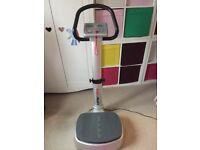 Vibration plate fitness machine