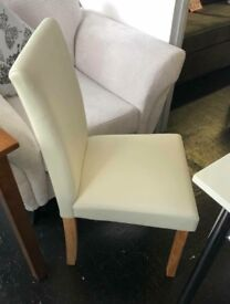 Cream or Black leather dining chairs
