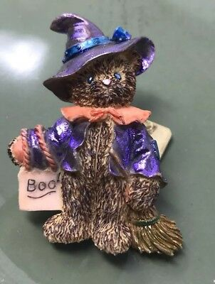 Cutest Little Bear in Witch Costume Pin.  Hand-painted Approx 2