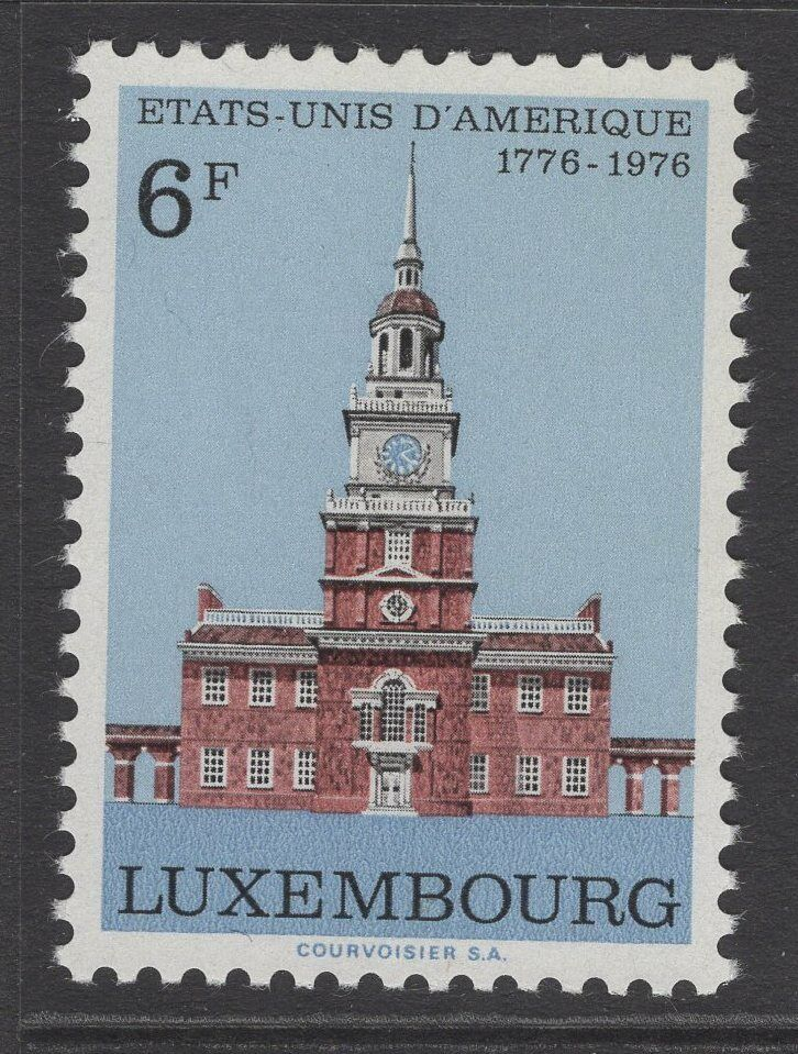 LUXEMBOURG SG970 1976 BICENTENARY OF AMERICAN REVOLUTION MNH