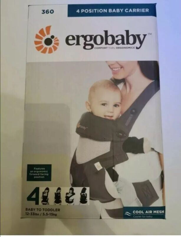 Brand New!!Ergo baby Four Position 360 Carrier Cool Air Mesh Carbon Gray