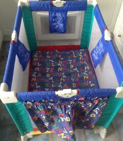 Petite star travel cot with mattress