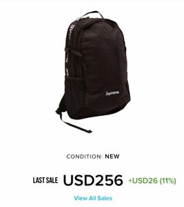 best sneakers 3fe56 5f9cb Authentic Supreme Backpack (SS18) Black