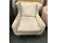 Multi colour dot fabric chair
