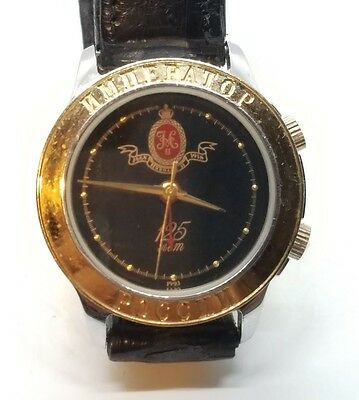 Rare Russian Mens Gold and Stainless Poljot Limited Edition Alarm Wrist Watch