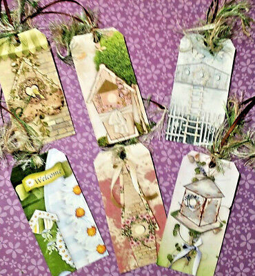 6 Welcome Birdhouse~Gift Hang Tags~Scrapbooking~Card Craft Making Embellishments](Welcome Gift)