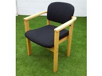 Black reception chair cheap