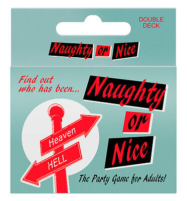 NAUGHTY OR NICE ADULT PARTY DRINKING GAME