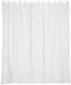 Extra Long 5 Gauge Vinyl Shower Curtain Liner W Metal Grommets 72 Wide X 78 Long Ebay