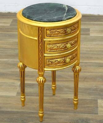 VINTAGE KOMMODE gold, SCHUBLADENTISCH, Drawer COMMODE, BAROCKMÖBEL, LAMPENTISCH