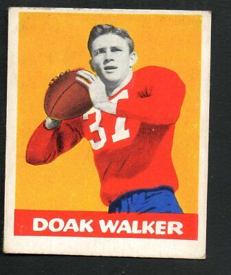1948 Leaf Football Card #4 Doak Walker-Detroit Lions-Orange Background Variation - Detroit Lions Background