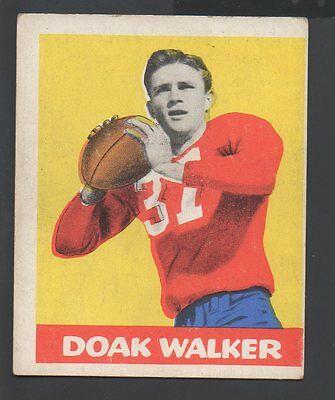 1948 Leaf Football Card #4 Doak Walker-Detroit Lions-Yellow Background - Detroit Lions Background