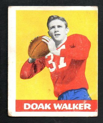 1948 Leaf Football Card #4 Doak Walker-Detroit Lions-Yellow Background Variation - Detroit Lions Background