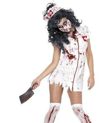 Halloween Damen Zombie Krankenschwester Kostüm Damen Outfit von - Krankenschwester Halloween Outfits