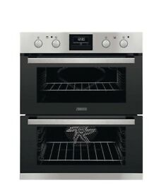 Zanussi ZOF35802XK Built-Under Double Electric Oven, Stainless Steel
