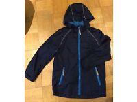 Navy Raincoat age 6-7