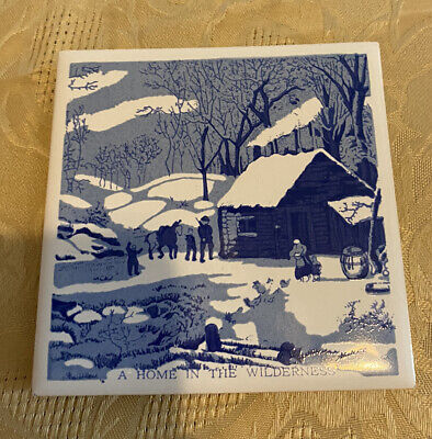 """Hoover Square Tile ~ A Home In The Wilderness ~ 4 1/4"""" x 4 1/4"""""""