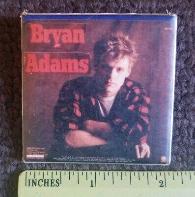 Adams Vintage Rock (BRYAN ADAMS vintage 1980s rock & roll music pin / pin back / badge )