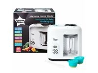 Tommee tippee baby food blender and steamer - used twice then kept in its box stored