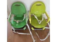 Two Chicco Booster Seats Fold Away Sturdy Upto 15 Kilos Weight