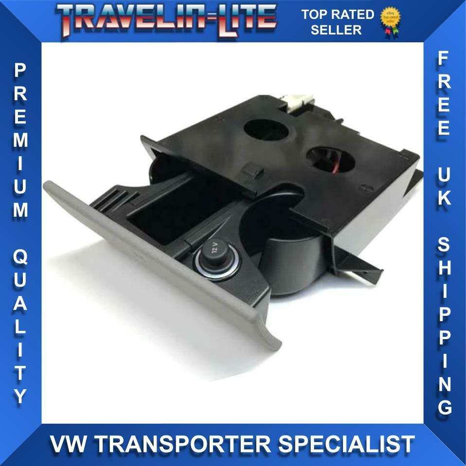 Car Parts - VW T5 Genuine Cup Holder Complete Unit 12V Replacement 03 - 15 Brand New